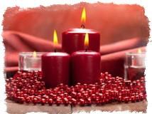 Обряд с красными свечами