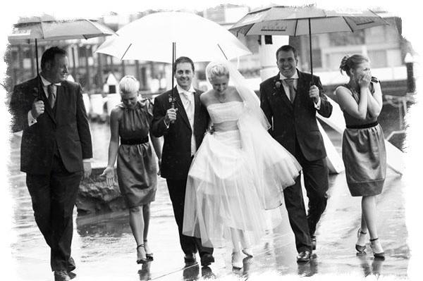 Если на свадьбу идет дождь