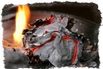 гадание по бумаге сгоревшей