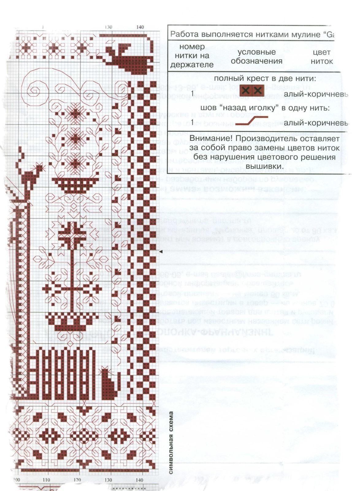 Схема вышивки крестом обереги для дома 77