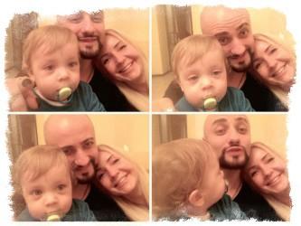 Сатаненко с сыном и девушкой