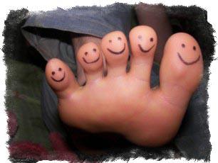 характер по пальцам ног