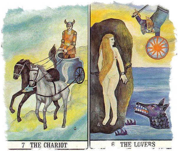 сочетание таро колесница влюбленные