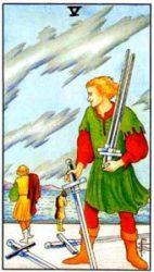 5 мечей таро