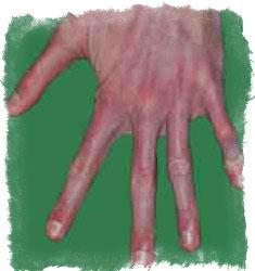 характер по пальцам