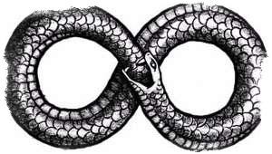 змея поедающая свой хвост