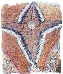 Шестикрылый серафим. Мозаика собора монастыря Неа Мони на о. Хиос.