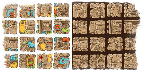 гадание майя значение символов