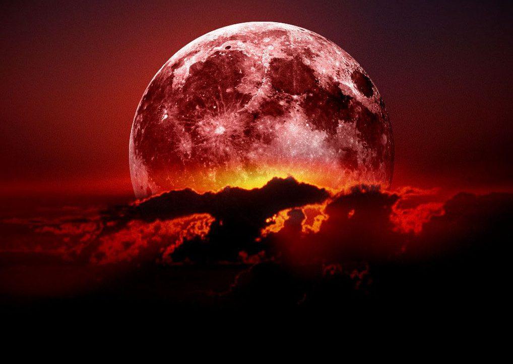 почему луна красная