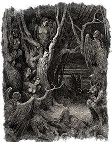 Гарпии в седьмом круге Ада у Данте