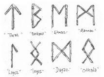 Как правильно рисовать руны, произносить их названия и оговаривать их