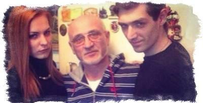 Олег Шепс с сыном и невесткой Керро