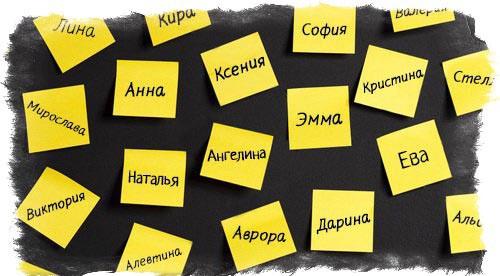 стикеры с именами