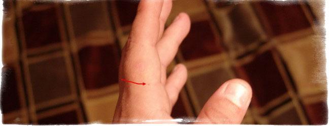 родинка на указательном пальце