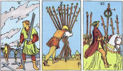 значение карты таро 5 мечей