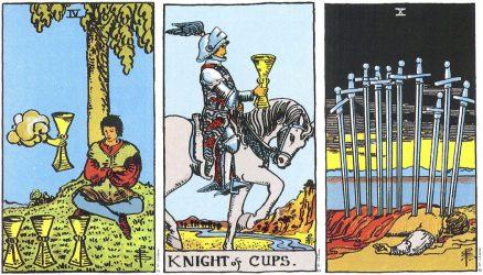 рыцарь кубков сочетание таро