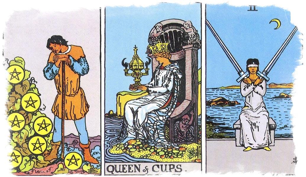 королева кубков сочетание таро