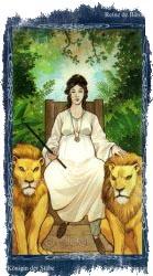 королева посохов таро
