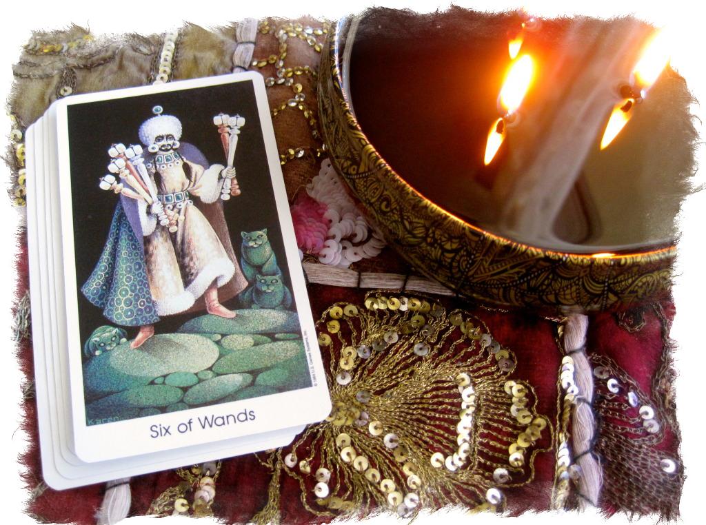 Стихия огня — 6 Жезлов Таро значение карты победителей
