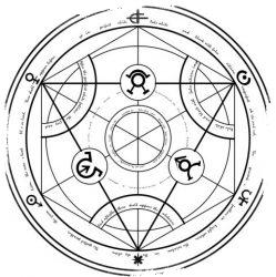 алхимический круг преобразования