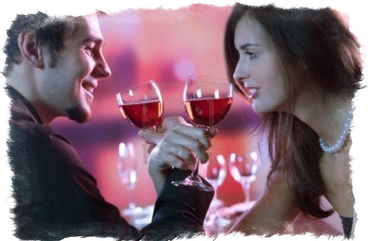 любовь за бокалом вина