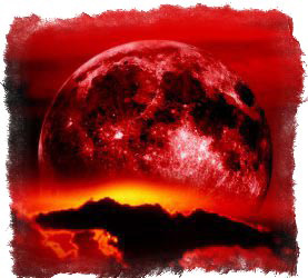 красная луна на небе