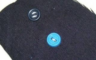 Привязка с помощью пуговицы и нитки