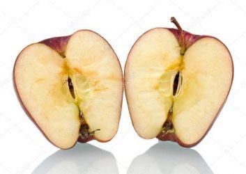 Половинки яблока для приворота
